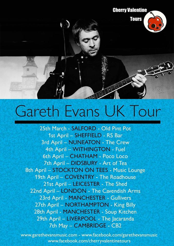 Gareth Evans UK tour